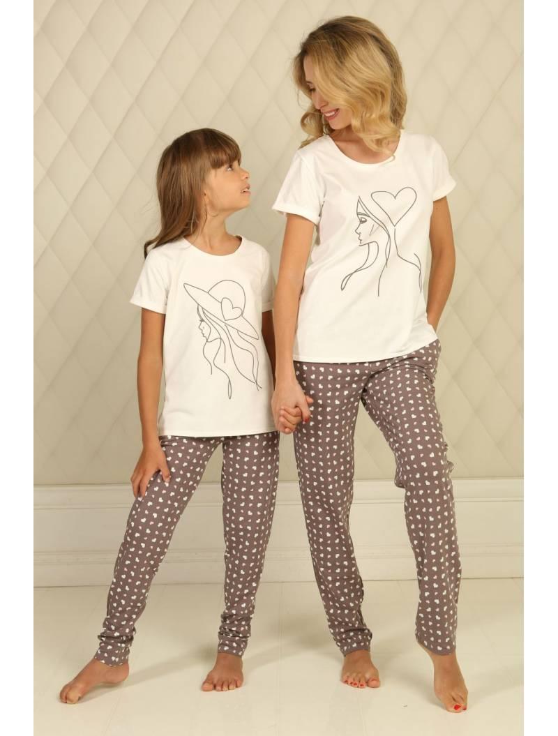 Пижама П-М-51 (сердечки)