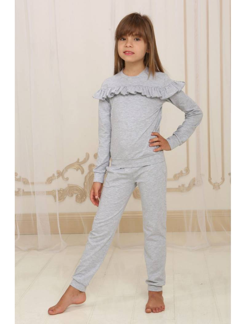 Детский костюм серый меланж