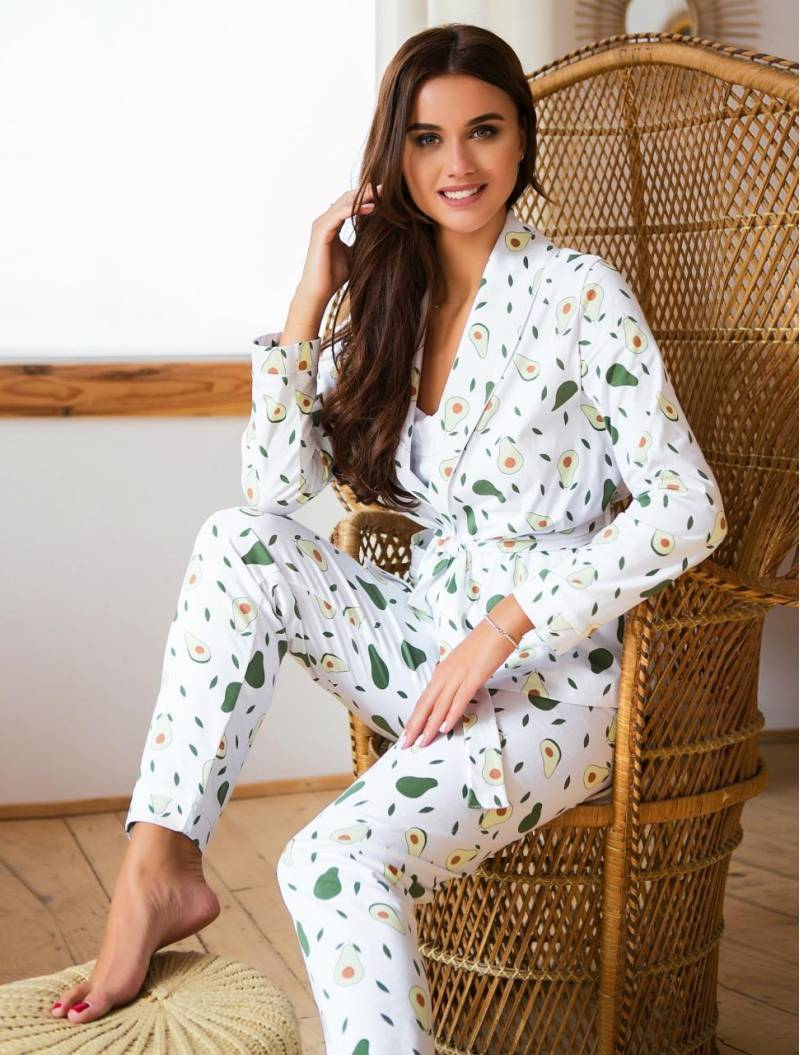 Пижама айвори с пандами