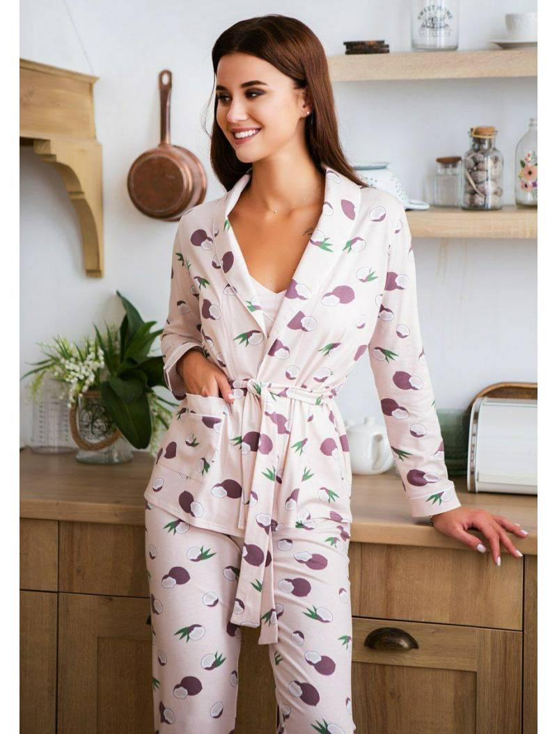 Пижама розовая с кокосами