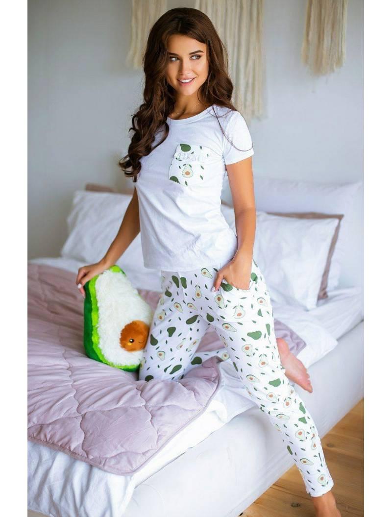 Пижама айвори с авокадо