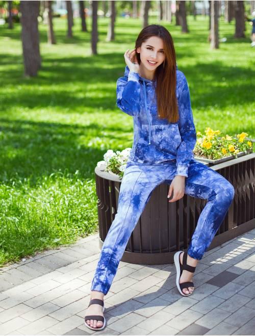 Костюм К-М-3 синий tie-dye